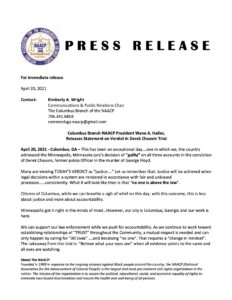 NAACP Press Release